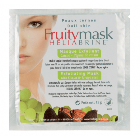 Маска-эксфолиант с какао и виноградом Heliabrine® FRUITY MASKS Exfoliating Mask with Cocoa & Grape