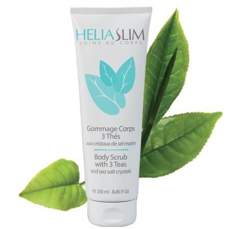 Скраб для тела з чаем и кристаллами морской соли Heliabrine® SATIN Body Scrub with 3 teas