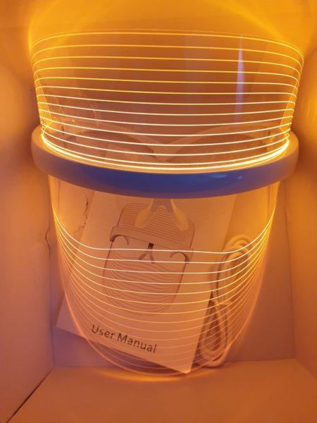 LED маска для светотерапии кожи лица ЖЕЛТЫЙ