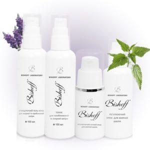 Ежедневный набор для ухода за жирной кожей лица Bishoff 1м.